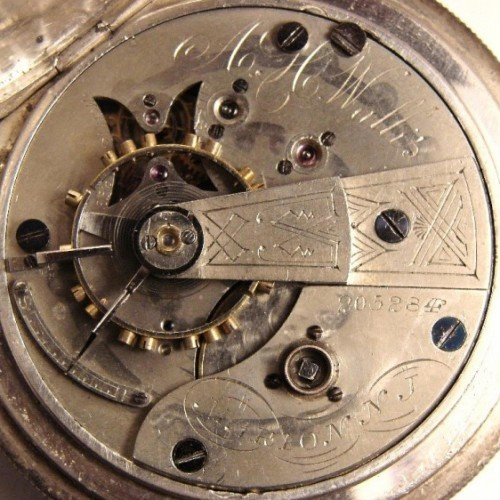 Image of U.S. Watch Co. (Marion, NJ) A.H.Wallis #205284 Movement