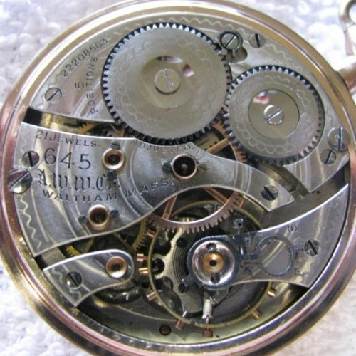 Image of Waltham No. 645 #22208563 Movement