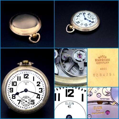 Swiss Elgin Grade 6431-6445 Pocket Watch Image