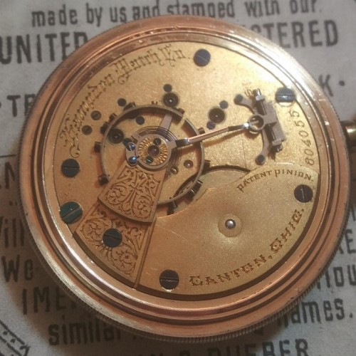 Hampden Grade No. 34 Pocket Watch Image