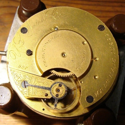 Image of U.S. Watch Co. (Waltham, Mass)  #927 Movement