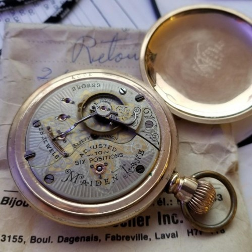 Seth Thomas Grade Maiden Lane Pocket Watch Image