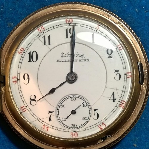 Columbus Watch Co. Grade Railway+King Pocket Watch Image