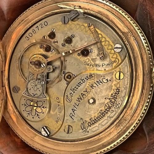 Columbus Watch Co. Grade Railway+King Pocket Watch Image