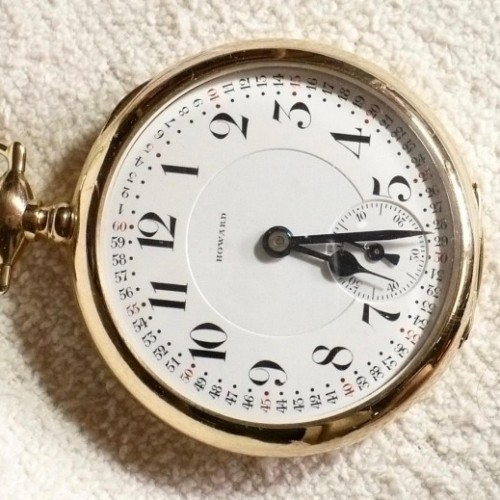 howard pocket watch how to open