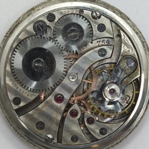 Gruen Watch Co. Grade Gruen Semithin 754 Pocket Watch Image