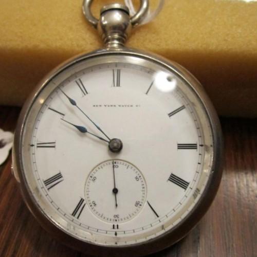 New York Springfield Watch Co. Grade Aaron Bagg Pocket Watch Image