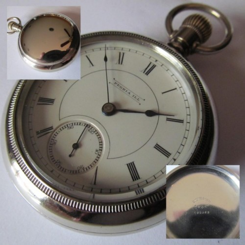 Peoria Watch Co. Grade E Pocket Watch Image