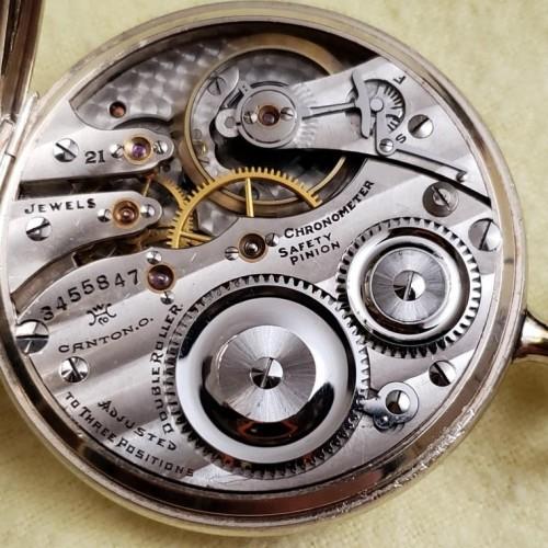 Hampden Grade Chronometer Pocket Watch Image