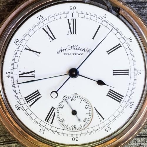 Waltham Grade Hillside Pocket Watch