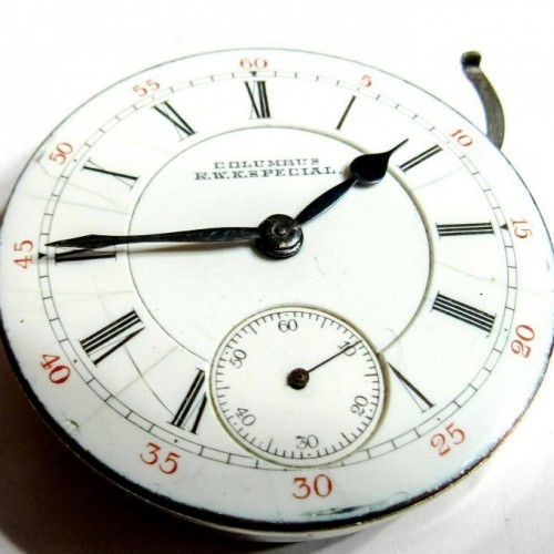 Columbus Watch Co. Grade Railway King Special Pocket Watch Image