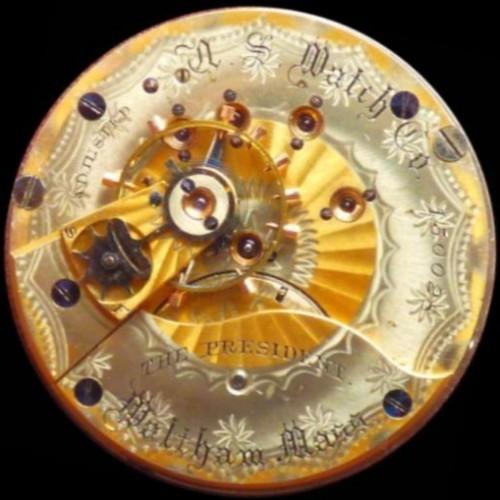U.S. Watch Co. (Waltham, Mass) Grade The President Pocket Watch Image