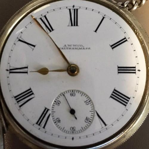 Waltham Grade Sterling Pocket Watch Image