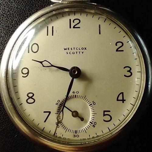 Westclox Grade Scotty 1950's Pocket Watch Image