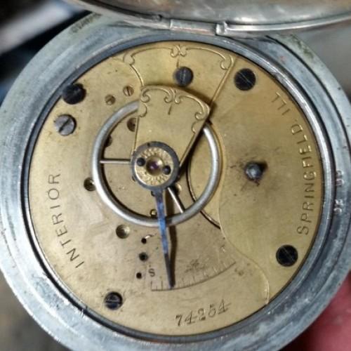 Illinois Grade Interior Pocket Watch Image