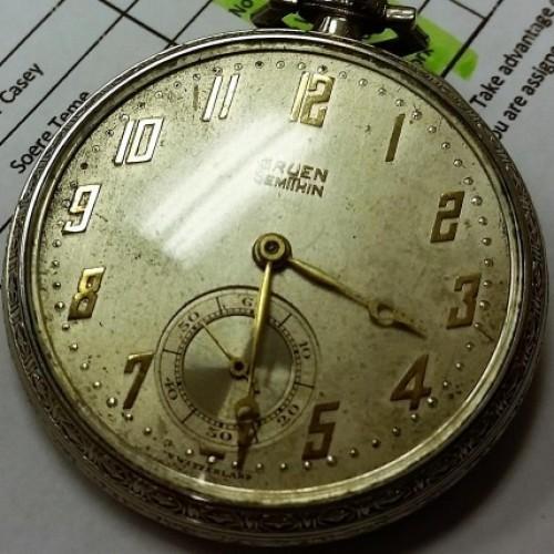 Gruen pocket watch database