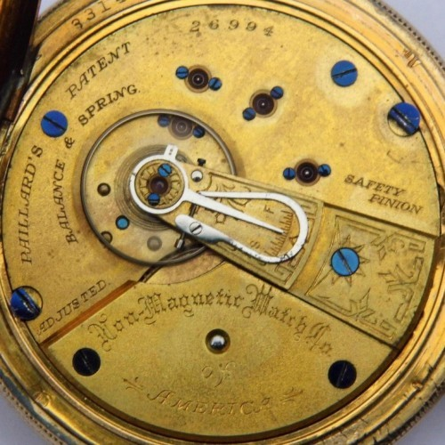 Non-Magnetic Watch Co. Grade Peoria Pocket Watch Image