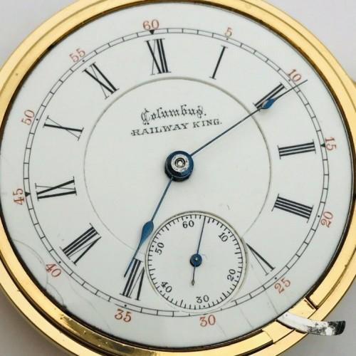 Columbus Watch Co. Grade Railway King Pocket Watch Image