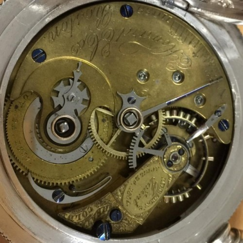 E. Howard & Co. Grade HEAT & COLD Pocket Watch Image
