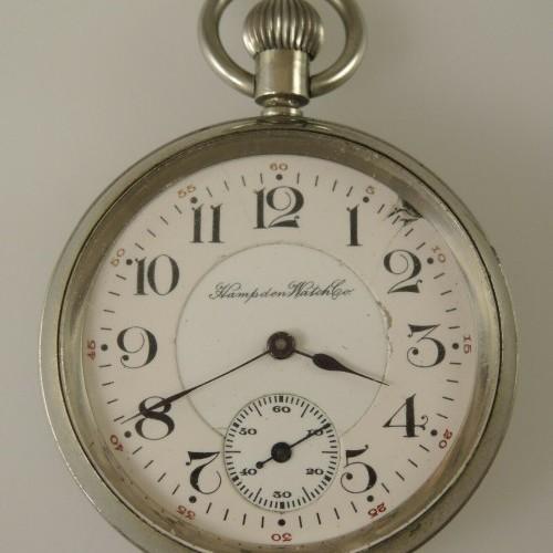 Hampden Grade No. 104 SR (in flag) Pocket Watch