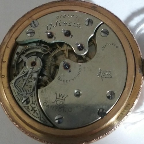 Hampden Grade No. 107 D Star (in flag) Pocket Watch Image