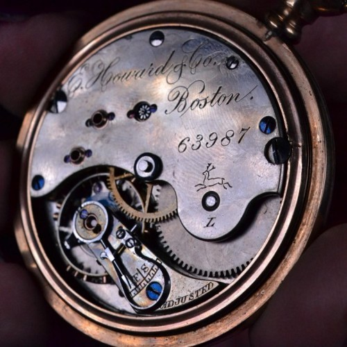 E. Howard & Co. Grade Stag Pocket Watch Image