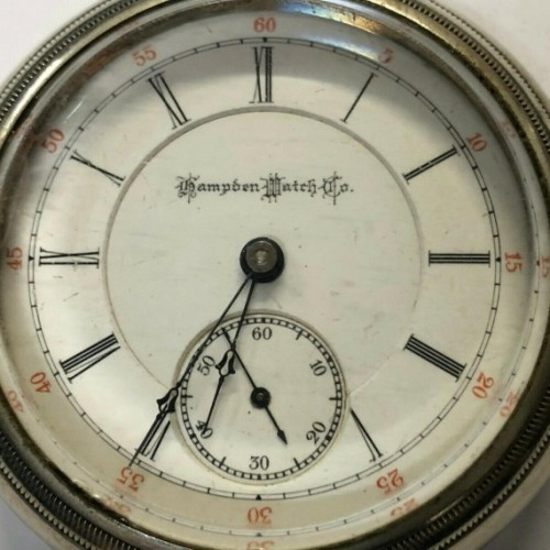 Hampden Grade J.C. Perry Pocket Watch Image