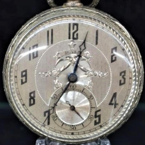 Illinois Grade Commercial Standard Pocket Watch Image