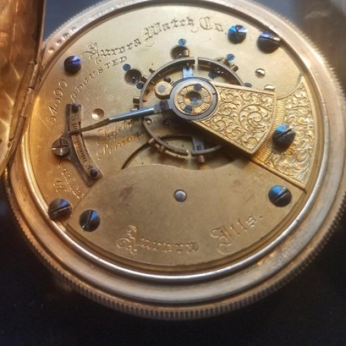 Aurora Watch Co. Grade Unknown Pocket Watch Image