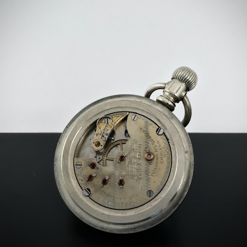 Chicago Watch Co. Grade Trainmens Special Pocket Watch Image