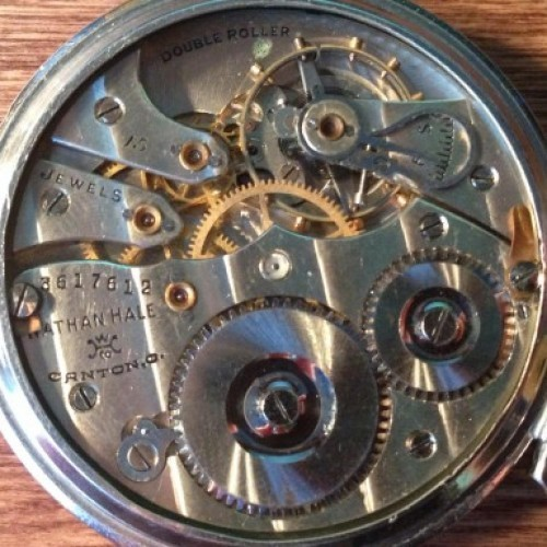 Hampden Grade Nathan Hale Pocket Watch Image
