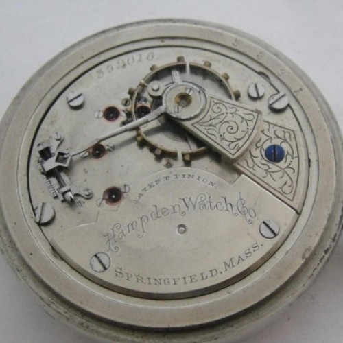 Hampden Grade No. 62 Pocket Watch Image