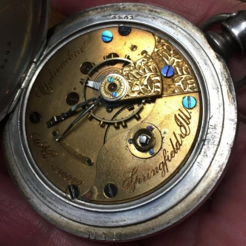 Illinois Grade Columbia Pocket Watch Image