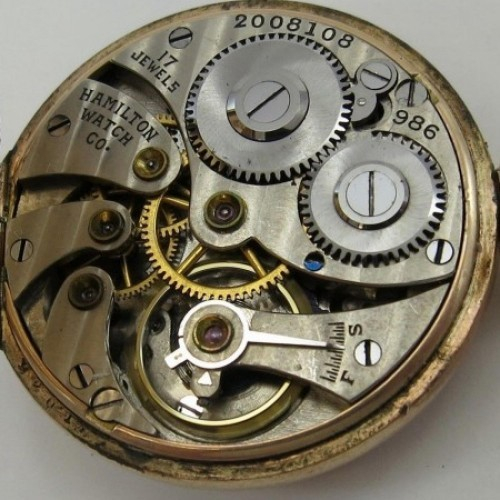 Hamilton Grade 986 Pocket Watch Image