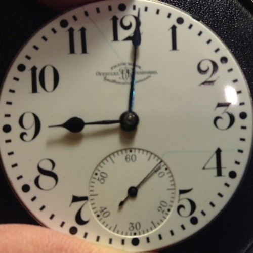 Image of Ball - Waltham Official Standard #B251258 Dial