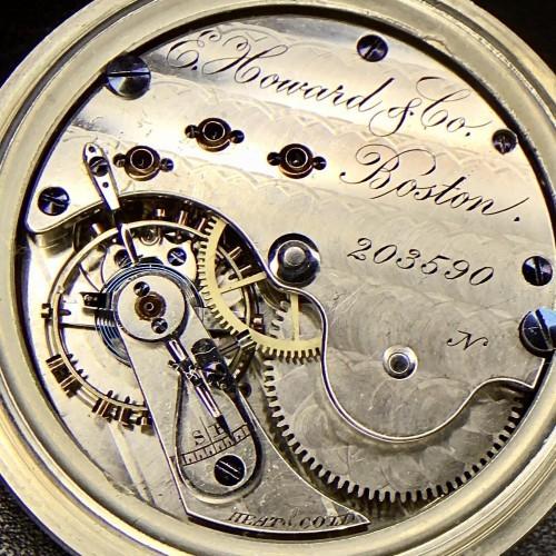 E. Howard & Co. Grade Horse Pocket Watch Image