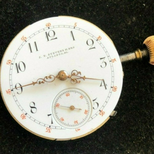 J.P. Stevens Watch Co. Grade  Pocket Watch Image