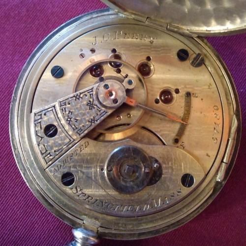 Hampden Grade J.C. Perry Pocket Watch Image