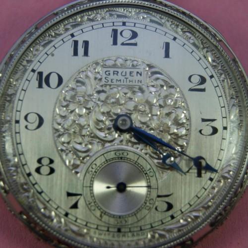 Gruen Watch Co. Grade Gruen SemiThin 756 Pocket Watch Image