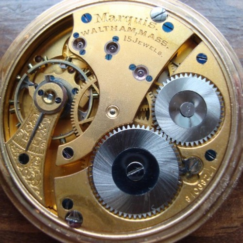 Waltham Grade Marquis Pocket Watch Image