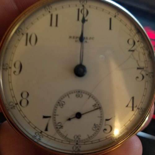 Seth Thomas Grade Trainmen's Special Pocket Watch Image