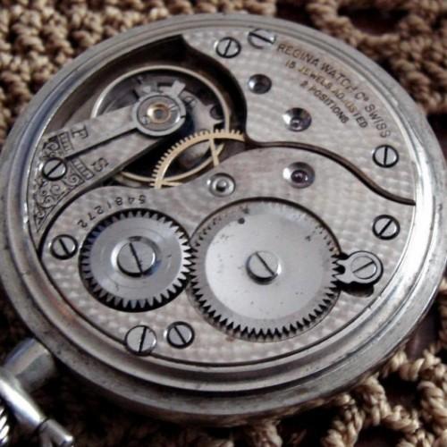 Omega Watch Co. Grade Regina Watch Co Pocket Watch Image