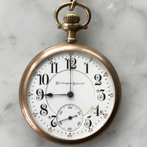 Burlington Watch Co. Grade 185 Pocket Watch Image