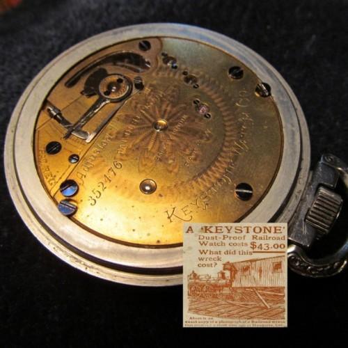 Keystone Standard Watch Co. Grade Dust Proof Pocket Watch