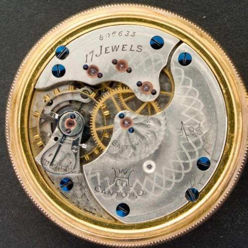 Hampden Grade No. 108 D (in flag) Pocket Watch Image