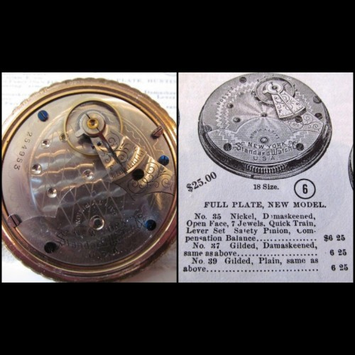 New York Standard Watch Co. Grade No.35 Pocket Watch Image