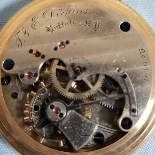 New York Springfield Watch Co. Grade E.W. Bond Pocket Watch Image