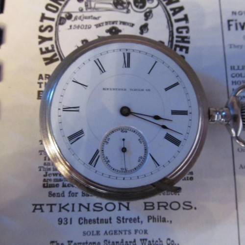 Keystone Standard Watch Co. Grade Dust Proof Pocket Watch Image