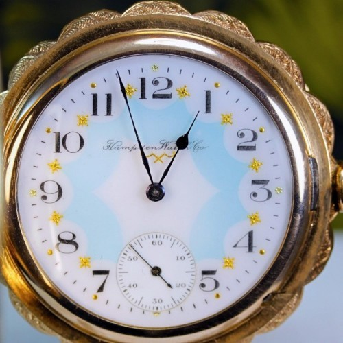 Hampden Grade No. 110 H (in flag) Pocket Watch Image