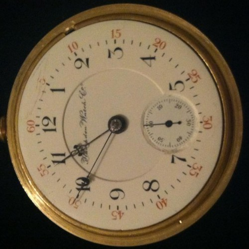 Hampden Grade Anchor (in shield) Pocket Watch Image